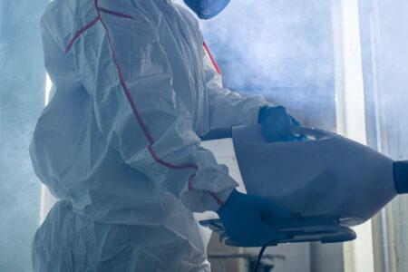 Disinfezione a saturazione volumetrica con aerosolizzatore termico a secco